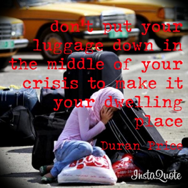 Don't put down luggage